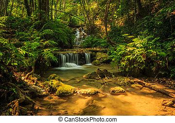 滝, すばらしい, chiangrai, タイ, pugang