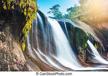 滝, ジャングル, thailand.