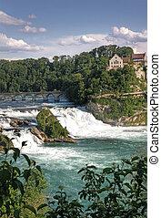 滝, スイス, rhinefall