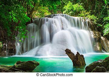 滝, タイ, 森林, トロピカル