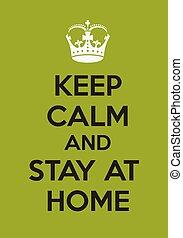 滞在, たくわえ, 冷静, 家