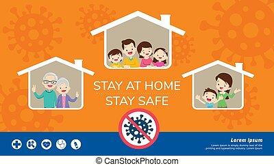 滞在, 安全である, 家 家族