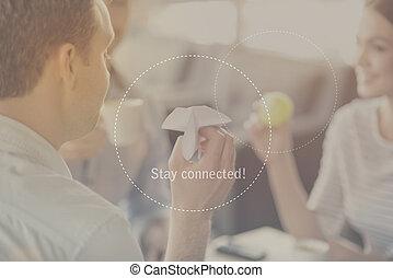 滞在, 概念, 接続される