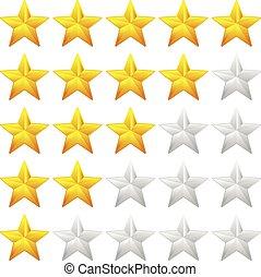 满意, 反馈, concepts., 系统, 估价, 等级分类, good-bad, 质量, vector., 星, ...