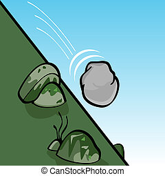 滾動, 石頭