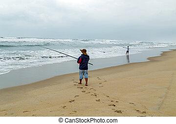 漁夫, 海灘, 鞭笞, 捕帽子