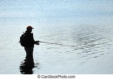 漁夫, 黑色半面畫像