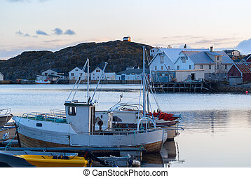 漁師, ボート, 桟橋