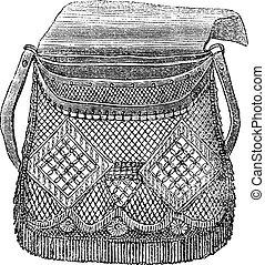 漁師, 型, 彫版, 袋