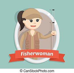 漁師, 女, 紋章