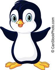 漂亮, 嬰孩, 企鵝