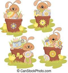 漂亮, 復活節, 插圖