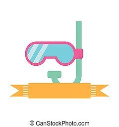 漂亮, 水下通气管, 被隔离, 圖象