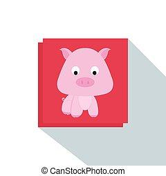 漂亮, 豬