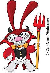 漂亮, 魔鬼, 兔子