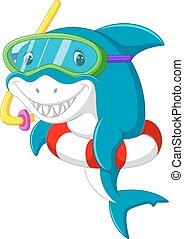 漂亮, 鯊魚, 卡通
