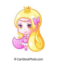 漂亮, chibi, 公主