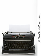 演播室 射擊, ......的, an, 老 被塑造, 打字机