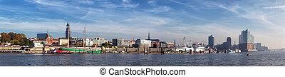 漢堡, 港口, 全景