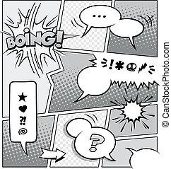 漫画本, ページ, テンプレート