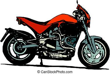 漫画, オートバイ, ベクトル