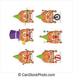 漫画, クッキー, クリスマス, ショー, サーカス, 様々, 帽子, 特徴