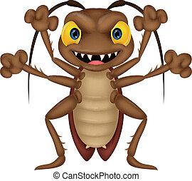 漫画, ゴキブリ, 恐い