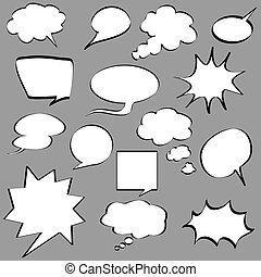 漫画, スピーチ, 泡