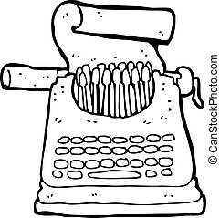 漫画, タイプライター