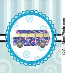 漫画, バス, 背景