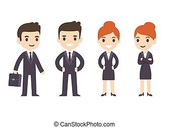漫画, ビジネス 人々