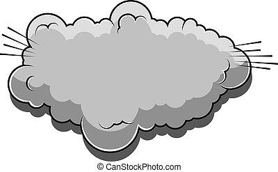 漫画, ベクトル, 漫画, 雲