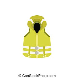 漫画, ベスト, 緑, 反射, 救命胴衣, 安全, 黄色い縞