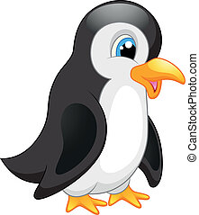 漫画, ペンギン, かわいい