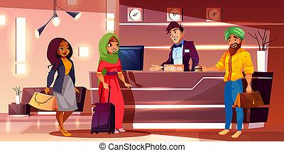 漫画, ホテル, indian, 登録, ゲスト