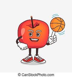 漫画, マスコット, バスケットボール, アップル, カニ, 特徴