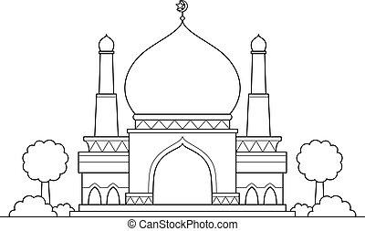 漫画, モスク, ベクトル
