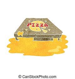 漫画, レトロ, ピザ