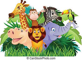 漫画, 動物