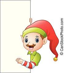 漫画, 印, 妖精, クリスマス, ブランク