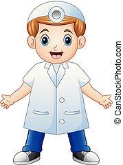 漫画, 微笑, 歯科医
