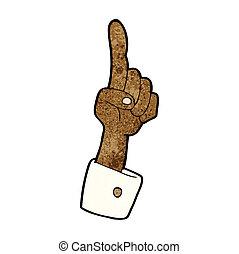 漫画, 指すこと, 手
