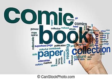 漫画, 概念, 単語, 本, 雲