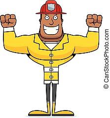 漫画, 消防士, 微笑
