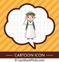 漫画, 特徴, 人, 主題, 要素