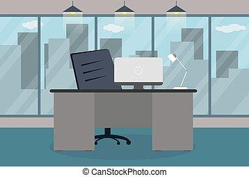 漫画, 現代, オフィス