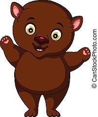 漫画, 脂肪, 熊, ブラウン