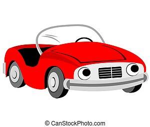 漫画, 自動車, 赤