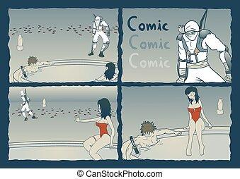 漫画, 芸術, ページ