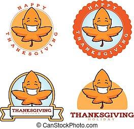 漫画, 葉, 感謝祭, グラフィック